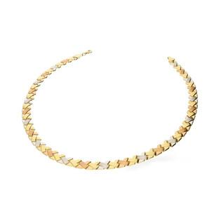 Naszyjnik złoty Stampato trzykolorowy nr OS 193-066-SAT-TRI Au 585 Sezam - 1