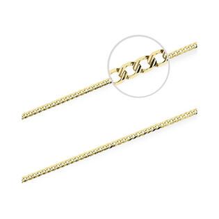 Łańcuszek złoty pancer nr VK GAXPDE 0+1 040 L50 próba 585 Sezam - 1