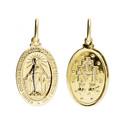 Medalik złoty z wizerunkiem Matki Boskiej Niepokalanej nr CB M-0927 Au 333 Sezam - 1