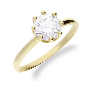 Złoty pierścionek z cyrkonią soliter ZQ5 próba 333 Sezam - 1