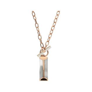 Naszyjnik prostokąt z białą masą perłową rose NJ03 6620023.1 próba 925
