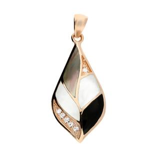 Zawieszka kropla z masą perłową i cyrkoniami NJ06-1 1610130 próba 925