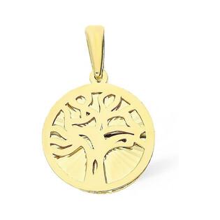 Zawieszka złota z drzewem nr MZ T23-P-0218-17-LZ-DC Au 333 Sezam - 1