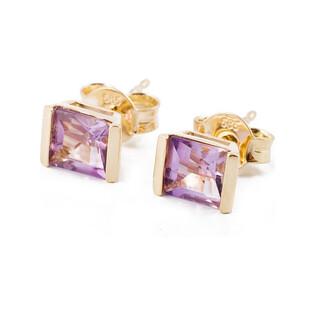 Kolczyki złote z ametystem naturalnym nr FR 04644-51-0240 Au 585 Sezam - 1