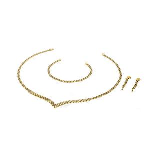 Komplet złoty z cyrkoniami czarnymi nr S3 SYB-05 Au 585 Sezam - 1