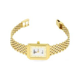 Zegarek złoty prostokąt z masą perłową nr MI GENEVE SM001 Au 585 Sezam - 1