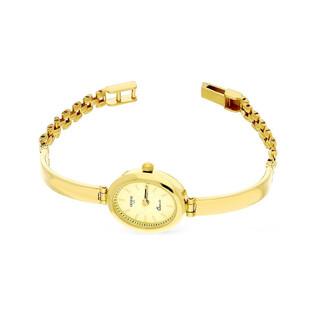 Zegarek złoty owalny półsztywny nr MI GENEVE SM006 Au 585 Sezam - 1
