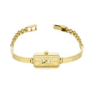 Zegarek złoty prostokąt półsztywny nr MI GENEVE SM007 Au 585 Sezam - 1