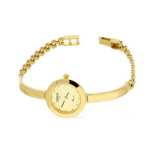 Zegarek złoty okrągły półsztywny nr MI GENEVE SM009 Au 585 Sezam - 1