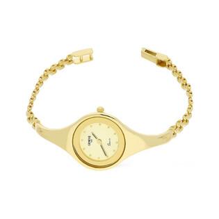 Zegarek złoty okrągły półsztywny nr MI GENEVE SM011 Au 585 Sezam - 1