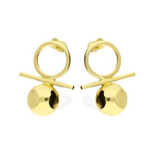 Kolczyki złote kule na sztyft nr AR 10546 AU 585 Sezam - 1