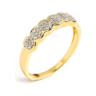 Pierścionek złoty z brylantami RQ 137M próba 585 ANEMON