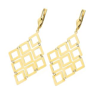 Kolczyki złote romby ażurowe AR VXLKE2122-IV próba 585 Sezam - 1