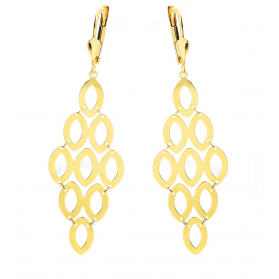 Kolczyki złote ażurowe nr AR VXLKE2128-IV próba 585 Sezam - 1