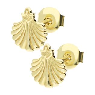 Kolczyki złote muszla blask, sztyft nr MZ T5-ES-1009-ST próba 333 Sezam - 1