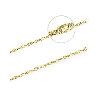 Łańcuszek złoty singapur BC G2SD 022 próba 585 Sezam - 1