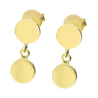 Kolczyki złote kółka pełne MZ T5-E-0218-130 próba 333 Sezam - 1