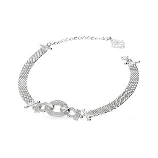 Bransoleta srebrna taśma z cyrkoniami nr JA JA504 Sezam - 1