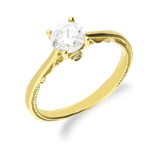 Złoty pierścionek z cyrkonią ZQ 318 próba 333 Sezam - 1
