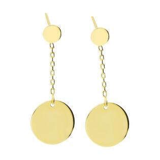 Kolczyki złote kółko wiszące na łańcuszku MZ T23-E-0218-47-LZ próba 585 Sezam - 1