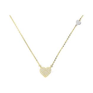 Naszyjnik złoty serce z cyrkoniami AR X3CABLE8N-200788-YW-FCZ próba 585 Sezam - 1