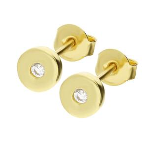 Kolczyki złote z cyrkonią TB028 próba 585 Sezam - 1