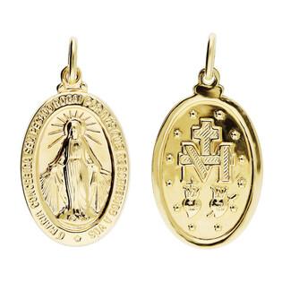 Medalik złoty z wizerunkiem Matki Boskiej Niepokalanej nr CB M-0924 próba 585 Sezam - 1