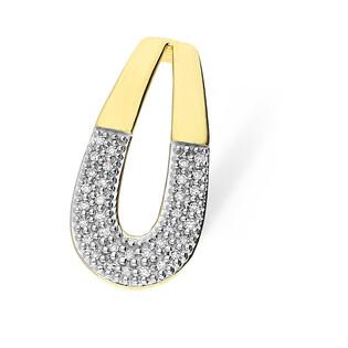 Zawieszka z diamentami MIRAGE KU 102171-103225 próba 585 Sezam - 1