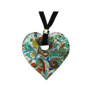 Naszyjnik ze szkła murano OVER w kształcie serca KQ149 Murano - 1