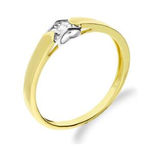 Pierścionek złoty zaręczynowy z diamentem AMADO Magic KU 6036 próba 585 Sezam - 1