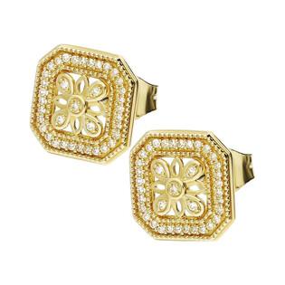 Kolczyki złote z diamentami ART DECO KU 7729 próba 585 Sezam - 1