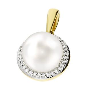 Zawieszka perła 3,30ct+bryl 0,07ct KU 102681-104546 próba 585 Sezam - 1