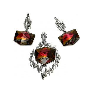 Kolczyki srebrne z kolekcji Brilas nr KP 05526 z kryształem Kaputt Sezam - 1