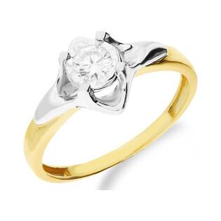 Pierścionek złoty z diamentem UNICO Magic NF JRI-589 próba 375 Sezam - 1
