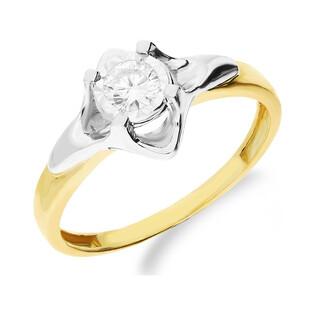 Pierścionek zaręczynowy z diamentem UNICO Magic NF JRI-585 próba 375 Sezam - 1