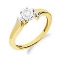 Pierścionek zaręczynowy z diamentem PASSION Magic NF JRI-561 próba 375 Sezam - 1