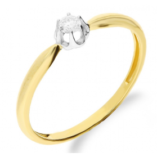 Pierścionek złoty z diamentem NF JRI-537 próba 375 Sezam - 1