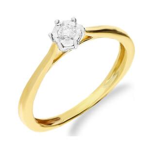 Pierścionek złoty z diamentem SOLITER Magic NF JRI-548 próba 375 Sezam - 1