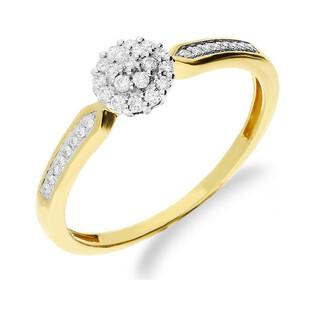 Pierścionek zaręczynowy z diamentami SWEET NF JRI-541 próba 375 Sezam - 1