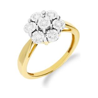 Pierścionek złoty zaręczynowy z diamentami BRIDELL Magic NF JRI-530 próba 375 Sezam - 1