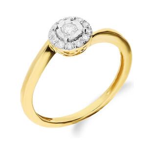 Pierścionek zaręczynowy z diamentami MIRAGE Magic NF JRI-544 próba 375 Sezam - 1