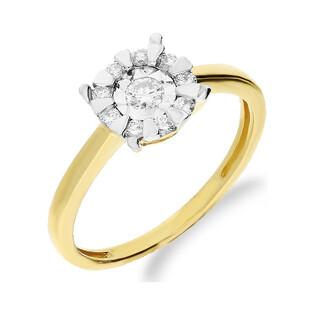 Pierścionek złoty z diamentami LEMON NF JRI-531 próba 375 Sezam - 1