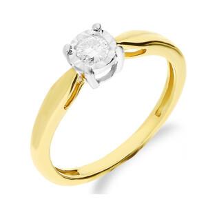 Pierścionek zaręczyowy z diamentem SOLITER Magic NF JRI-547 próba 375 Sezam - 1