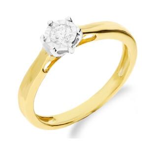 Pierścionek zaręczynowy z diamentem SOLITER Magic NF JRI-546 próba 375 Sezam - 1
