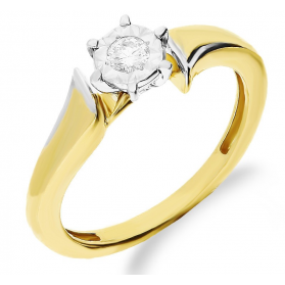 Pierścionek zaręczynowy z diamentem PASSION Magic NF JRI-565 próba 375 Sezam - 1