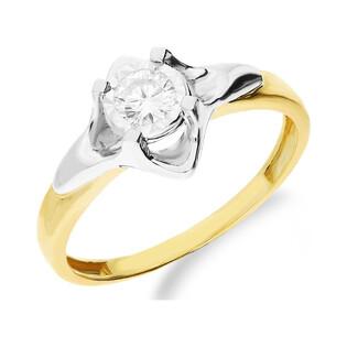 Pierścionek zaręczynowy z diamentem UNICO Magic NF JRI-587 próba 375 Sezam - 1