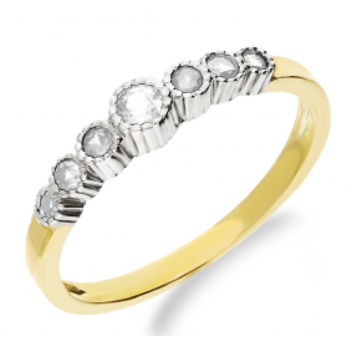 Złoty pierścionek z szafirowymi cyrkoniami NB 501312 próba 333 Sezam - 1