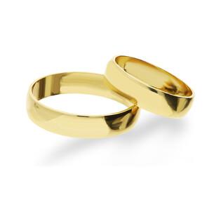 Obrączka złota gładka ZI NOW OG5 próba 585 Sezam - 1