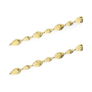 Naszyjnik złoty blaszki fasolki grawerowane nr AR 1175-DC próba 585 Sezam - 1