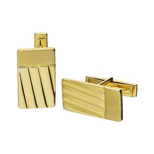 Złote spinki do mankietów prostokąty zdobione AR XSCL0112-GW próba 333 Sezam - 1